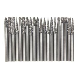 Wholesale Tungsten Carbide Cutter Wholesalers - Best Price 20Pcs 1 8 Inch 3mm Tungsten Carbide cutter Rotary Burr Set CNC Engraving Bit CED