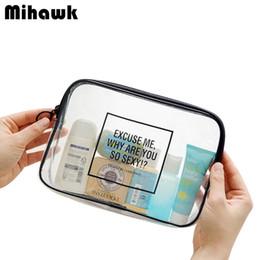 Wholesale Wholesale Clear Beauty Organizers - Wholesale- PVC Transparent Mini Cosmetic Organizer Bag Waterproof Clear Pouch Makeup Bags Cosmetic Beauty Accessories Supplies Products