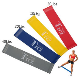 Wholesale Fitness Rubber Band - Fitness 4 Levels Pilates Yoga Rubber Resistance Bands LOOP rope Stretch Band Crossfit elastic resistance band for bodybuilding