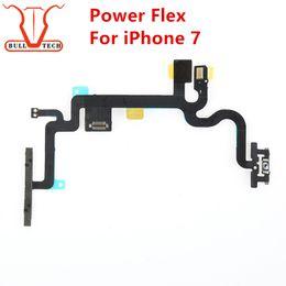 Wholesale Flex Connectors - For Apple iPhone 7 4.7 Power Flex Volume Power OnOff Button Control Switch Connector Flex Cable Repair Replacement Parts for iphone 7g
