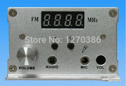 Wholesale Rechargeable Station - Wholesale-Free Shipping!!! 7w FM PLL LCD stereo transmitter Radio Station