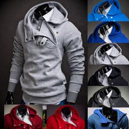 Wholesale Branded Brown Color Suit Men - Wholesale-2016 Hoodies Men Sudaderas Hombre Hip Hop Mens Brand 7 Color Stitching Hedging Hoodie Sweatshirt Suit Slim Fit Men Hoody