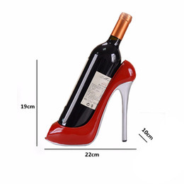 Wholesale High Heels Wine Bottle - High-Heeled Shoes Resin Bottle Wine Holder Wine Rack Practical Sculpture Ornament Shelf Tray for Party Restaurant Gift