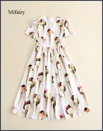 2019 vestidos festa moda curto Vestidos de pista 2017 preto / branco ice cream impressão manga curta a line mulheres dress moda vestidos de festa d061739 desconto vestidos festa moda curto