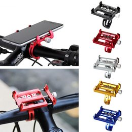 Wholesale Phone Bike Mount Waterproof - Metal Bike Bicycle Holder Motorcycle Handle Phone Mount waterproof case phone stand For iPhone 7 plus Samsung S8 edge Cell phone GPS