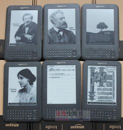 Wholesale E Book Reader Kobo - Wholesale- kindle 3 e-ink ebook reader keyboard ink screen 4GB e book with mp3 ereader books have kobo in stock