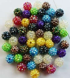 Wholesale Blue Epoxy Resin - Best! free shipping 10 mm Mixed Mix Color Epoxy Rhinestone,Resin Crystal Spacers Beads Jewelry Finding bead hot Wholesale! Stock!Mixed Lot!