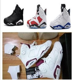 Wholesale Pc Mid - Free Shipping 2017 air VI retro 6 cheap basketball shoes Olympic red black Infrared Carmine Sneaker Sport Shoe For Online Sale