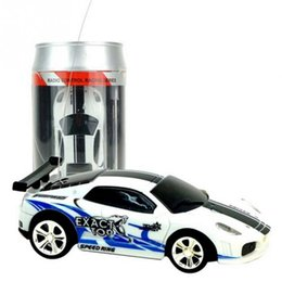 Wholesale Race Gifts - Genuine Multicolor Coke Can Mini Speed RC Radio Remote Control Micro Racing Car Toy Gift 80 x 35 x25mm 1.2V 80mAh Ni-mh
