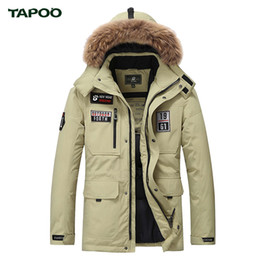 Wholesale Polyester Outerwear - Wholesale- Tapoo Mens Down Coats Polyester Winter Jackets Thick 80% White Duck Down Casual Outerwear Windproof Handsome Plus Size M-3XL