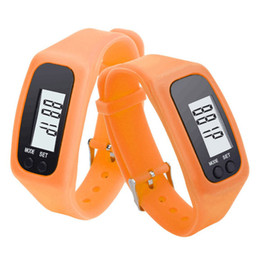 Wholesale Electronic Anion - Students selling fashion models sport watch pedometer calorie anion silicone electronic watch