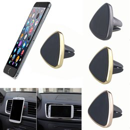 Wholesale Bluetooth Pdas - Universal Magnetic Car Air Vent Holder Mount Cradle Stand For Cell Phone GPS