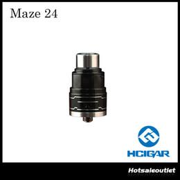 Wholesale Double Deck Atomizer - Authentic Hcigar Maze 24 RDA Atomizer with a Unique Double-deck Airflow Design 100% Original DHL FREE