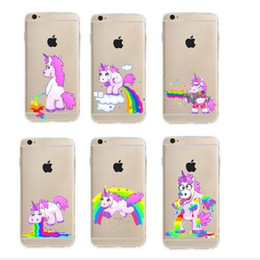 Wholesale Iphone 5s Cases Draw - Emoji phone case for iphone X iPhone 8 7 6 6s plus 5s 5E draw unicorn Case soft TPU Slim Protective Back Cover printed Case GSZ004