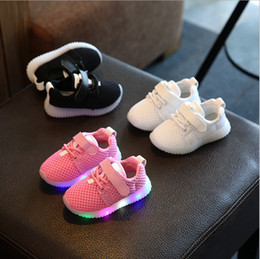 Wholesale Toddlers Fashion Shoes - China wholesale 2017 new spring fashion casual running sneaker mesh toddler kids shoes light led baby girls boy hook loop rubber breathable