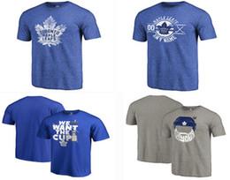 Wholesale Big Tall Men Shirts - 2017 Men's Toronto Maple Leafs Fanatics Branded Stanley Cup Playoffs Participant Blue Line Big & Tall T-Shirt - Blue Size S-4XL