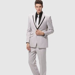 e4b368a469d Fashion prom suits custom made slim suit mens suits wedding groom best man  one button notch lapel (jacket+pants)