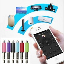 Wholesale Iphone Infrared Remote - Wholesale- Universal Mini 3.5mm IR Infrared Remote Controller Smart Wireless Remote Controller For TV STB Air Conditioner For iPhone