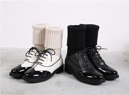 Wholesale Ladies Christmas Socks - Luxury brand genuine leather women Wool socks boots Lady Winter Martin boots Top quality European Famous brand femail Size34-40 with box
