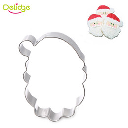 Wholesale ce hat - 1pc Stainless Steel Wedding Santa Claus Cookie Cutter 3D Hat Fondant Cake Pastry Biscuit Baking Mould DIY Cakr Tool