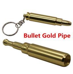 Argentina Hombres Niños Varones Moda Conveniente Creativo Mini Pequeño Bullet Pipe Metal Oro Fumar Herramientas llavero 3097 Suministro