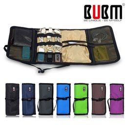 Wholesale Branded Bedding Sets - Wholesale- BUBM Brand Fashion Organizer Roll UP Winder Earphone Portabla Electronics Hard Drive Storage Bag Stable Travel Cable Organizer