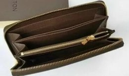 Wholesale Single Card Holder - 2018 Brand men and women holding a purse single zipper folder card wallet purse without box