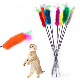 Wholesale Halloween Wholesale Suppliers - Rabbit Furs Pet Cat Toys Cat Teaser Wand Toys Pet Dog Cat Feather Playing Toys with bell elastoplastic products Supplier