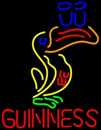 Wholesale Guinness Bar Signs - Fashion New Handcraft Multicolored Guinness Real Glass Beer Bar Display neon sign 19x15!!!Best Offer!
