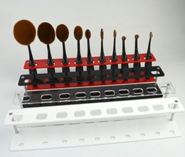 Wholesale Eco Friendly Makeup Brushes Wholesale - 10 Grids Toothbrush Makeup Brushes Display Holder Stand Brush Showing Rack Rectangle Holder Makeup Brushes Drying Stand Storage Tools