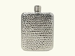 Wholesale Making Textures - 6 Ounce classics ( Pure hand-made ) Volcano Texture Stainless Steel liquor flask