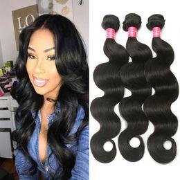 Wholesale Weaves For Cheap - 8A Grade Brazilian Virgin Hair Body Wave Hair Extension Human Hair Bundles Natural Color for Black Women Cheap Brazilian Virgin Human