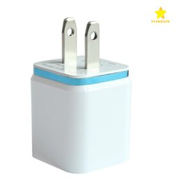 Wholesale Eu Ac Power Plug Apple - Metal 2 USB Wall Charger US EU Plug 2.1A AC Power Adapter Wall Charger Plug 2 Port for Samsung iPad