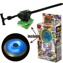 Wholesale Beyblade Light Launcher - boy toys fight against Beyblade Spinning Gyroscopes Light up top & Launcher