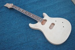 Wholesale Diy Electric Guitar - custom 22 unfinish electric guitar with flamed maple guitar Direct Manufacturer diy guitar you can custom-made