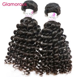 Wholesale Raw Unprocessed Extensions Wholesale - Glamorous Brazilian Curly Hair Extensions 2 Bundles Raw Unprocessed Virgin Human Hair 8-34inch 100g Peruvian Malaysian Indain Remy Hair Weft