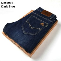 Wholesale Modern H - 2017 Autumn New Arrival Men Jeans Thick Style 4 Fashion Designs Comfortable Feeling Elastic Style W & H Brand Free Shipping