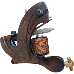 Wholesale Tattoo Custom Machines Frame - 5Pcs lot Professional Damascus Tattoo Machine 10 Wrap Coils Iron Cast Frame Custom Tattoo Gun For Liner Shader DTM-7594