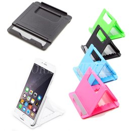 Wholesale Green Smartphone - New Adjustable Foldable Cell Phone Tablet Desk Stand Holder Smartphone Mobile Phone Bracket for iPad Samsung iPhone