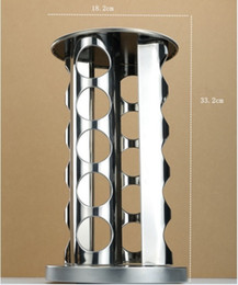 Wholesale Shaker Spices - Stainless Steel 20 Jar Revolving Spice Tower Holder Rack Kitchen Organizer Hot Sale Good Quality EWIN24