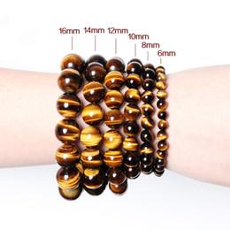 Wholesale Tigers Eye Beads Quality - High Quality Tiger eye beads bracelet 6mm 8mm 10mm Beads bracelet tiger eye bracelet free shipping