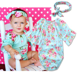 d93cfb861808 INS hot 2017 Baby girl kids toddler Summer 2piece set outfits Rose floral  Romper Onesies Diaper Covers Jumpsuits + Bow Headband Bunny Ears