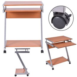 Wholesale Laptop Working Table - Portable Rolling Computer Desk Laptop Table Work Station Home Office Furniture