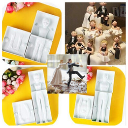 Wholesale Body Shaping Silicone - Wholesale- Hot Sale Fondant 3D People Shaped Cake Figure Mold Family Set Human Body Decorating Mould for Creating Men Women Children ZH102