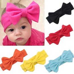 Wholesale Girls Stretch Headbands - Baby Kids Girl Child Infant Flower Floral Bow Turban Knot Headband Headwear Toddler Handmade Stretch Headwraps Solid Hair Accessories