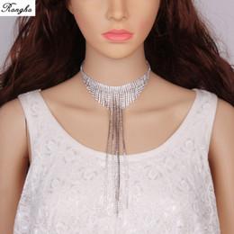 Fashion Brand claw Collana girocollo in cristallo Collana da donna con strass a forma di nappa Collana girocollo in argento con gioielli chunky 2017 da