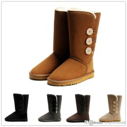 Wholesale Female Leather Boots - Top quality new fashion Australian classic high winter boot leather boots female boots snow boots