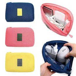 Wholesale Usb Cable Organizer - Shockproof Travel Digital Storage Bag Portable USB Cable Charger Earphone Cosmetic Pouch Storage USB Drive Organizer Bag LJJK786