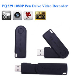 Wholesale Usb Video Pen - Full HD 1920*1080P Pen Drive Video Recorder Hidden Camera USB Flash drive Camcorders Audio Video Recorder spy camera PQ229