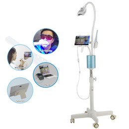 Wholesale Dental Mobile - Dental Mobile Teeth Whitening System Teeth Bleaching LED Light Lamp teeth whitening machine with special camera +7inch dental supply